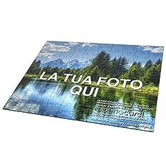 Idea Regalo - Curci Roberto Puzzle Personalizzato con foto e testo stampato IDEA REGALO per ogni occasione, in cartone, forma e grandezza a scelta - 28x40 cm - 384 tasselli (A3)