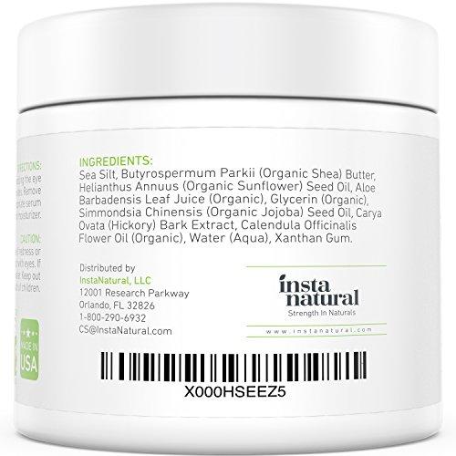 InstaNatural Totes Meer Salz Schlamm Maske 560ml - Gesichtsmaske schwarz gegen Pickel, Akne & Mitesser, reduziert Poren & Falten, mit BIO Shea Butter & Aloe Vera, 100% Naturreine Tiefenreinigung -