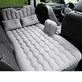 YQQ Auto Schlafmatte Camping Aufblasbares Kissen Reisebett Rücksitzluftbett Auto-Schock-Bett Auto Aufblasbares Bett (Farbe : Gray)