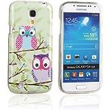tinxi® Design Schutzhülle für Samsung Galaxy S4 mini Hülle TPU Silikon Rückschale Schutz Hülle Silicon Case zwei Eulen Owl auf einem Ast