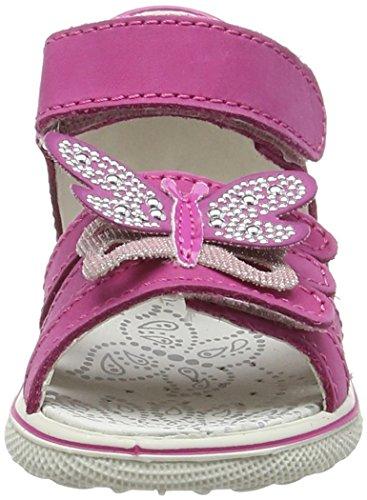 Lurchi Twinky, Sandales premiers pas bébé fille Rose - Pink (fuchsia 13)