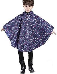 TIRAIN Manteau de Pluie Enfant Poncho Imperméable Unisexe Imperméable à Capuche Léger Antipluie