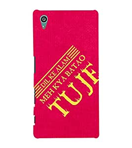 A POETIC QUOTE IN A RED BACKGROUND 3D Hard Polycarbonate Designer Back Case Cover for Sony Xperia Z5 :: Sony Xperia Z5 Dual (5.2 Inches)