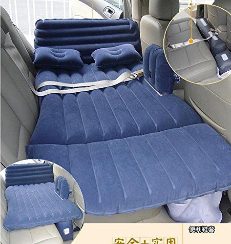 D&F Kinderautofahren Lieferungen Automobil-aufblasbares Bett in der Rückseite des Kombi Auto mit Baby-Matratze, blue
