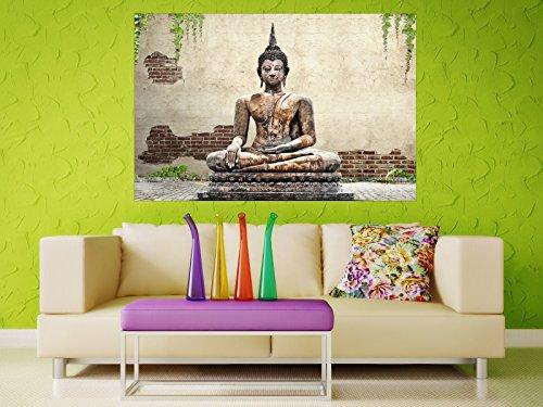 Selbstklebendes–cuadro de Buda Estatua–Fáciles de pegar–Wall Print, Wall Paper, Póster, pantalla con pegamento de puntos de vinilo para paredes, puertas, muebles y superficies lisas de Trend paredes 4