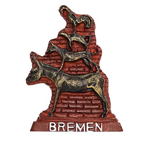 zamonji Die Bremer Stadtmusikanten, Bremen Deutschland 3D Harz Kühlschrankmagnet Reise Souvenir Tourist Geschenk - Magnet Kühlschrank Deutschland