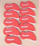 Best Adams golf bag - Cleveland golf Iron Covers 10pcs/set classical style, Red Review