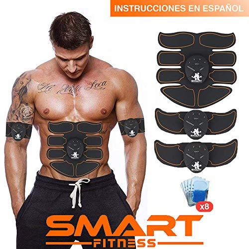 【La última Versión Original 2019】SMART FITNESS SPORTTM Electroestimulador Muscular Abdominales, Estimulación Muscular Masajeador Eléctrico Cinturón Abdomen/Brazo/Piernas/Glúteos. (Hombre / Mujer)