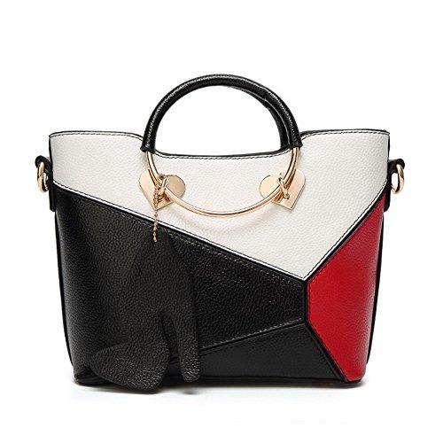 Odomolor Women's Reißverschlüsse Dacron Clutches & Abendtaschen Mode Clutch Handtaschen, Schwarz (Longchamp Vintage)