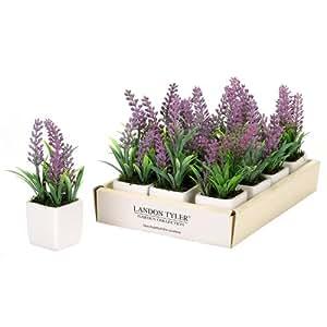 landon tyler artificial lavender plant in pot garden outdoors. Black Bedroom Furniture Sets. Home Design Ideas