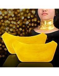 5starwarehouse® - 2x máscaras de colágeno antiedad para el cuello, antiarrugas e hidratante, incluye paño de 5star