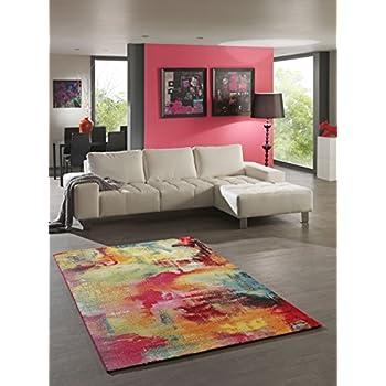 Teppich Designer Wohnzimmer Teppich Modern Splash Multicolor ...