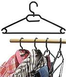 Produkt-Bild: 25 Stk.Kleiderbügel aus Kunststoff Universalkleiderbügel Farbe schwarz ca 41 cm