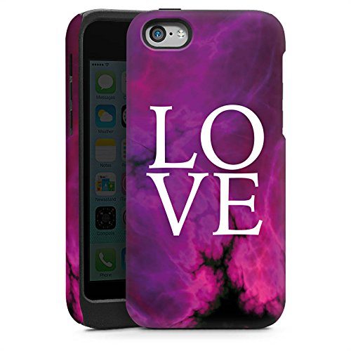 Apple iPhone 4s Housse Étui Silicone Coque Protection Amour Rose vif Motif lilas Cas Tough brillant