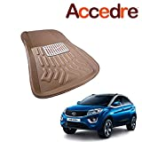Accedre Perfect Fit Car 3D Floor Mats Set of 3 Beige-Tata Nexon 2017