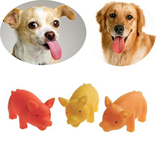 Yunso Haustier Hund Gummi Quietschen Spielzeug,Hund Interaktive Spielzeug Kauen Spielzeug mit Klingen für Haustier Ausbildung -