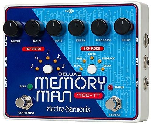ELECTRO HARMONIX 68327401117 2 DELUXE MEMORY MAN PEDAL   PEDAL DE EFECTO ECO/DELAY/REVERB PARA GUITARRA  COLOR PLATEADO