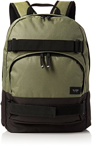 Globe Thurston Backpack - Zaini Unisex Adulto, Green (Olive/black), 14x47x30 cm (W x H L)