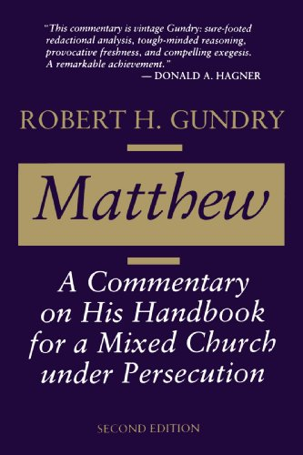 Matthew: A Commentary on His Handbook for a Mixed Church under Persecution