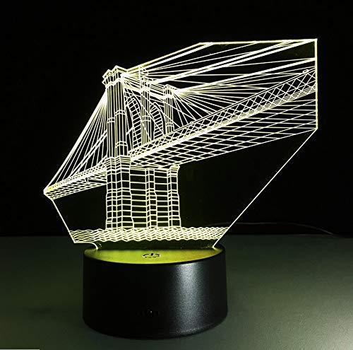 7 Farben Deko Lampe 3D Visuelle Led Nachtlichter Für Kinder Touch Usb Tisch Nachtlicht Sensor Lampe ()