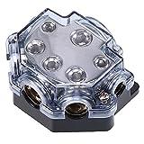 POSSBAY Auto Audio Stromverteiler 1 in 5 out Verteilerblock wasserdicht