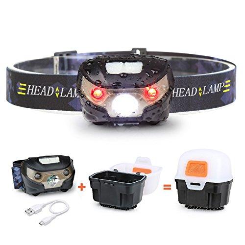 LED Stirnlampe Kopflampe Headlamp 9 LEDs 120 Lumen 3 Modi Extrem Hell Leuchte