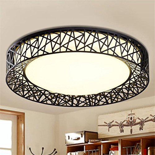Uncle Sam LI - Moderne Simple Living Room Led Ceiling Light Creative Enfants Chambre Allongé Lumières Décoration Chambre (Couleur : Noir-De 55 cm)