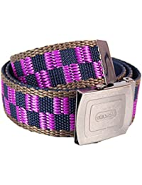 Chequer Pattern Belt Blue and Purple. Funky Cool Punk Clothing