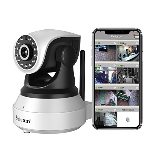 [Updated Version] IP Camera, YKS 720P HD WiFi IP Cam Home Surveillance Security Webcam System Video Recording Sonic Recognition Indoor CCTV with 2 Way Audio, Micro SD Card Slot, Motion Detection