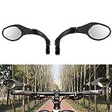 Volwco Lenker Fahrradspiegel, 360 ° Verstellbarer Winkel Fahrradrückspiegel Edelstahl HD Explosionsgeschützte...