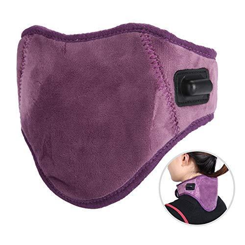 Colchoneta de calefacción por infrarrojos, soporte de cuello Wrap Cinturón cervical Compresa caliente Masaje USB Almohadilla calentada para el dolor de cuello, lesiones, rigidez, fatiga