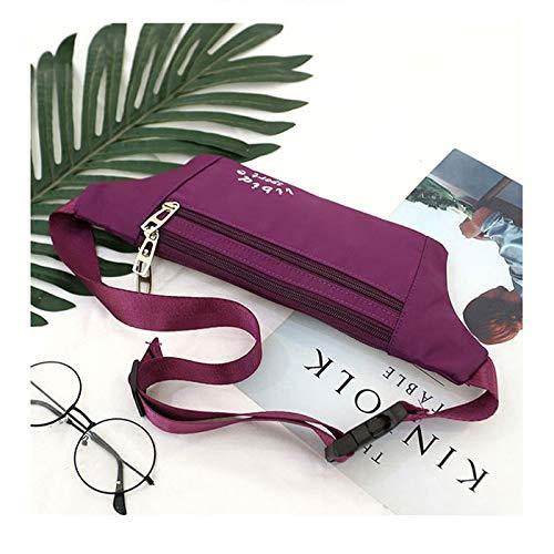 Fenfen-snb Borsa Piccola Cassa Messenger Personali Invisibili antifurto Piccole Tasche Sport Selvatici Sacchetto del Telefono Mobile di Forma Fisica a Tre Strati (Color : Purple)