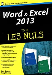 Word et Excel 2013, Mégapoche Pour les Nuls