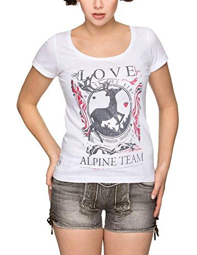 Stockerpoint Damen Trachtenshirt Shirt Yoko, Weiß (Weiss Weiss), XX-Large