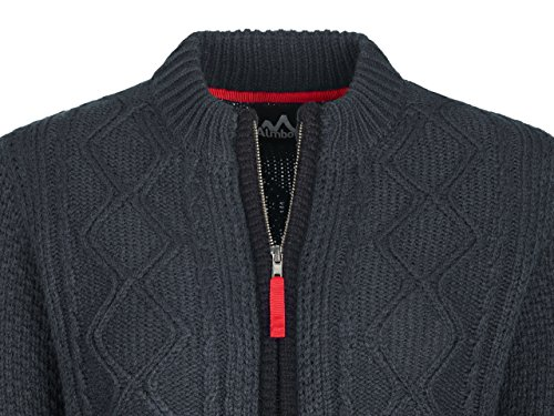 ALMBOCK Trachtenstrickjacke Damen |Trachtenweste Damen modern in anthrazit mit Reißverschluss | Trachten Jacke sportlich - Trachtenweste Gr. XXL - 5