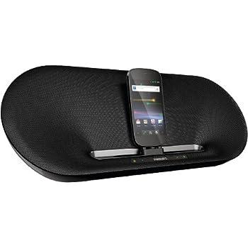 Philips AS851/10 Dockingsystem für Android mit Micro-USB (Bluetooth, MP3-Link, Equalizer, Wecker-, Internetradio-App) schwarz
