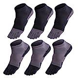 GINZIN Zehensocken 6 Paar Socken herren Männer Sport laufende Zehe Socken Sportsocken (1#)