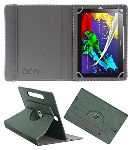 Acm Designer Rotating Leather Flip Case for Lenovo Tab 2 A10-70 Cover Stand Grey  available at amazon for Rs.219
