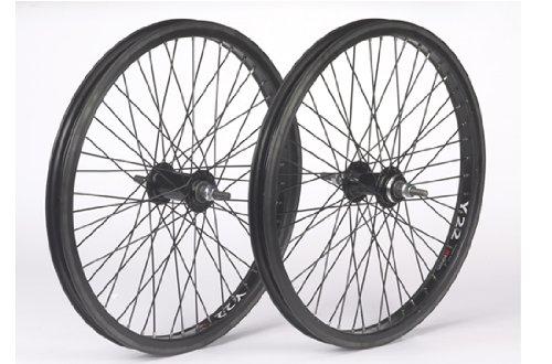 Diamondback BMX Rear BMX Wheel, 48h, 14mm Axle, Black Black - 20 inch