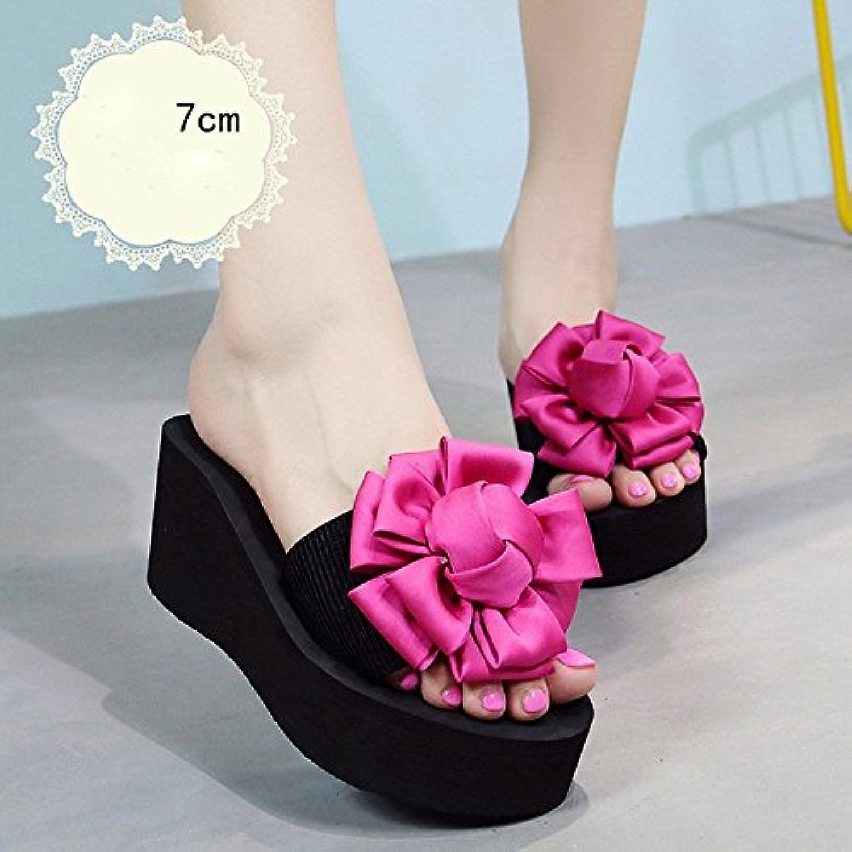 LISABOBO 7cm -couleur multi-talons hauts femme high-heeled chaussons d'été plage high-heeled femme Chaussure s mode pour les 18-40 ans... - B07CF7JHRN - ea85b7