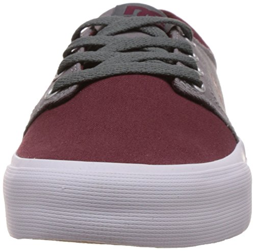 DC Shoes Trase TX M, Scarpe da Ginnastica Uomo Multicolore (Oxblood/Lt Grey)