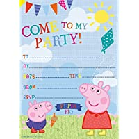 Amazon peppa pig invitations party supplies toys games new design peppa pig invites with envelopes 20pk stopboris Image collections