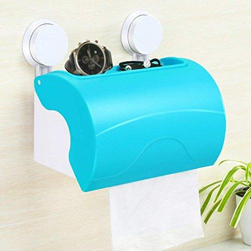 LQB Toilettenpapierständer Papierhandtuchkasten Sucker Toilettenpapier Toiletten Toilettenpapier Toilettenpapier Rollen Toiletten Toiletten Toilettenpapier Fach Papierhandtuchhalter,Blau
