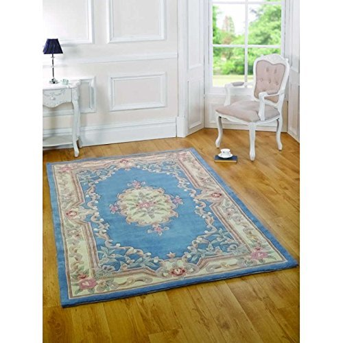 WEST DERBY CARPET ONLINE LTD flairs Lotus Premium Aubusson blau Teppich 60 cm x 120 cm -