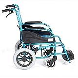 Manual de plegar ligeros multifuncional de niños en silla de ruedas, conveniente hijos ultraligero doblar en silla de ruedas de aluminio en silla de ruedas manual de ruedas