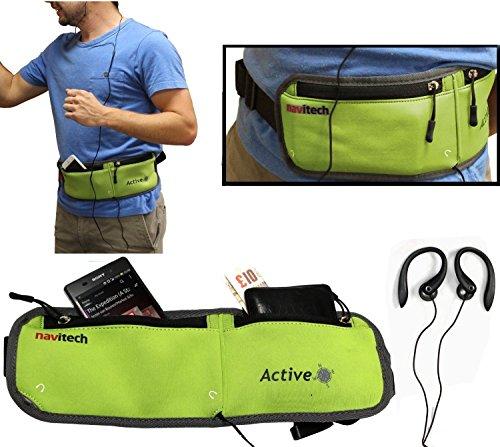 Navitech Smartphone Wasser Wiederständiges Neoprane Soprt / Jogging / Lauf Fitnesgürtel / Bauchtasche in Grün für das Motorola RAZR HD / Moto X / Moto G - Motorola Fall Razr