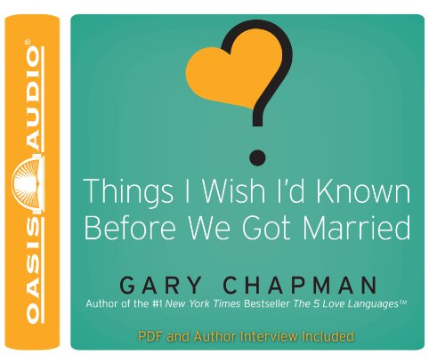 Things I Wish I'd Known Before We Got Married Id Audio