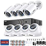 ANNKE Kit de Seguridad 3MP H.265+ DVR 8+2 Canal y 8 Cámaras CCTV de Luz Estrellada videovigilancia 2MP para hogar y Negocio Starlight IP66 Interior/Exterior Alerta por Correo-sin HDD