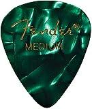 Fender 351 Classic Celluloid Picks 12-Pack (Couleurs assorties) Green Moto (Medium) - Lot de 12 médiators