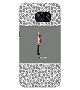 PrintDhaba Knife D-5716 Back Case Cover for SAMSUNG GALAXY S7 (Multi-Coloured)